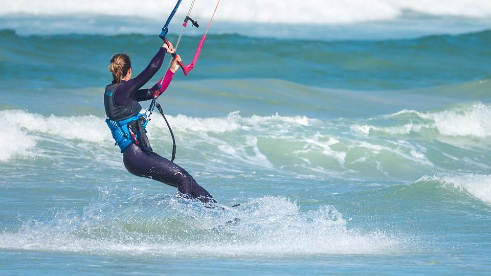 Kite surfing in Big Bay in Blouberg